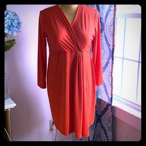 🆕Pip & Vine Orange Wrap Dress Sz XL